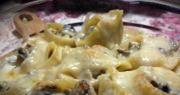 Ракушки, фаршированные грибами в сливочном соусе