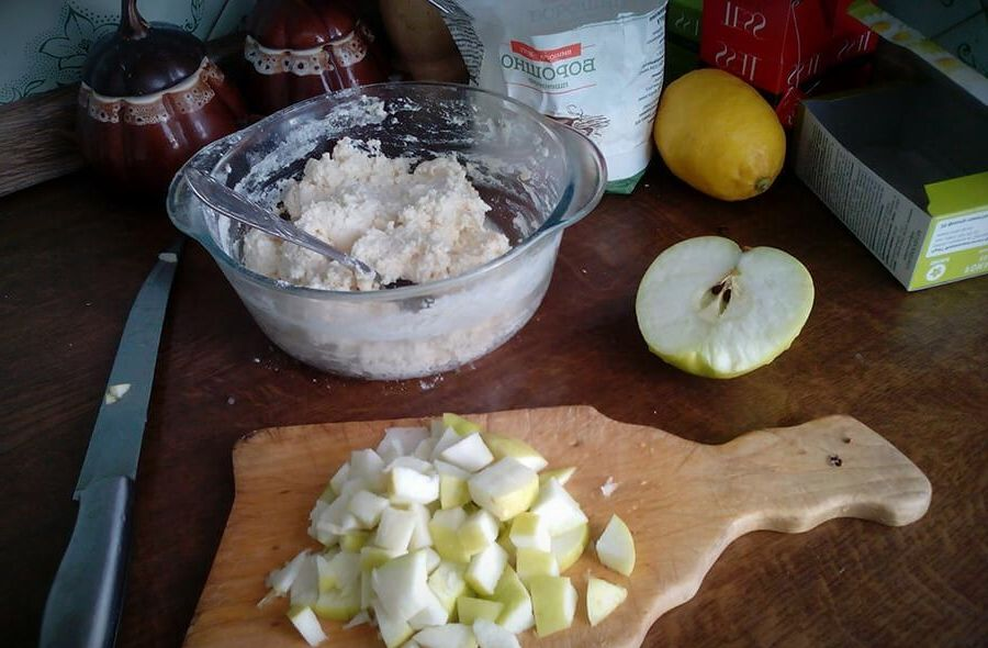 сырники из творога с яблоками рецепт с фото пошагово