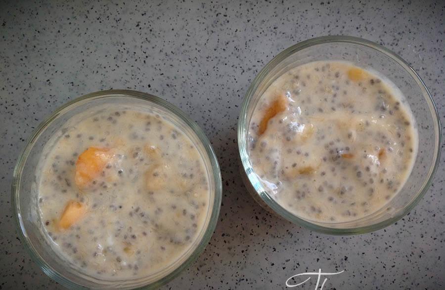 пудинг с семенами чиа на йогурте