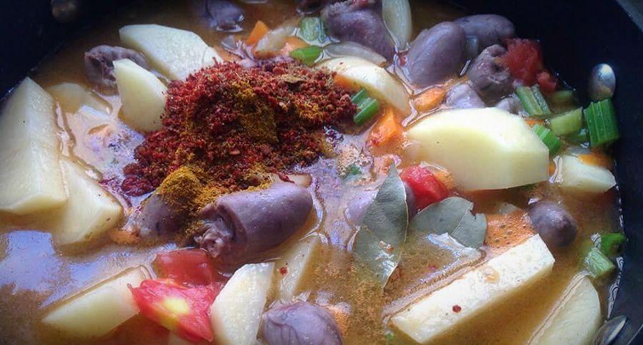куриные сердечки с картошкой рецепт