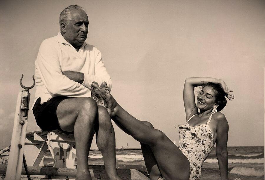 Мария Каллас с мужем