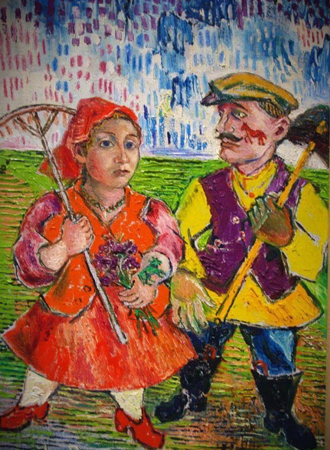 давид бурлюк крестьянин с женой