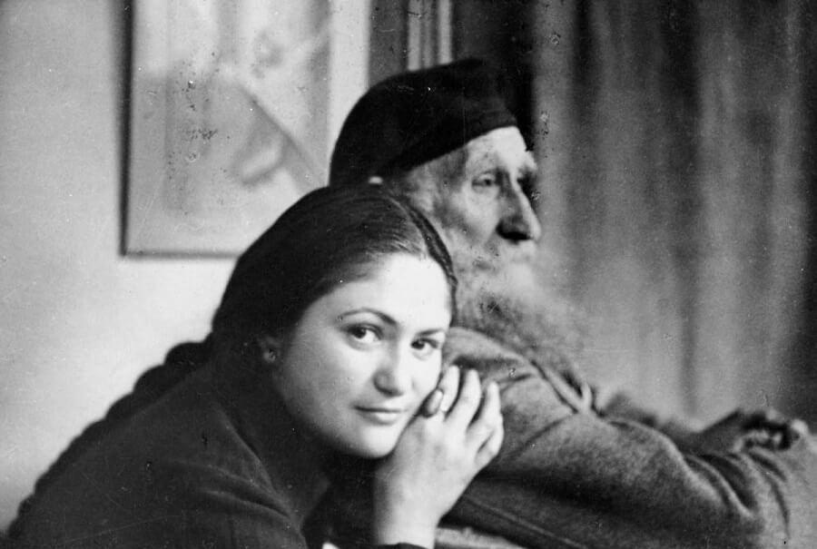 Дина Верни и Аристид Майоль