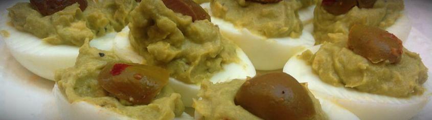 фаршированные яйца авокадо сыр чеснок