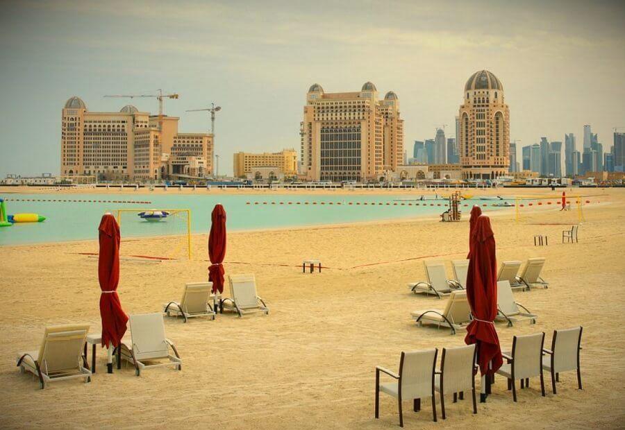 катар доха пляж
